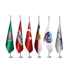 Logolu Krom Makam Bayrağı