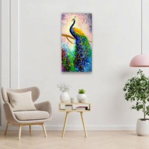 Tavus Kuşu Kanvas Tablo135X70 cm